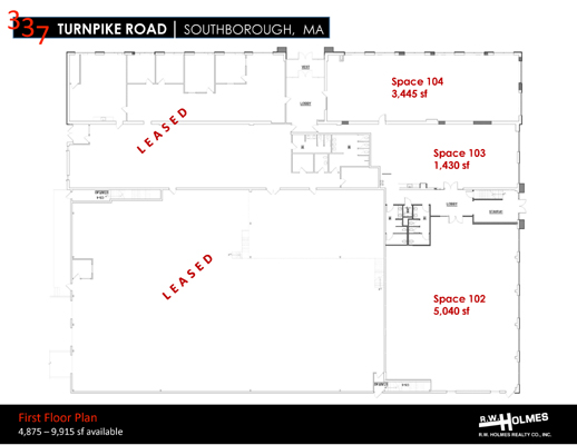 337 Turnpike Rd Southborough MA First Floor Plan