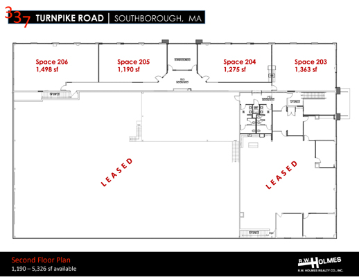 337 Turnpike Rd Southborough MA Second Floor Plan