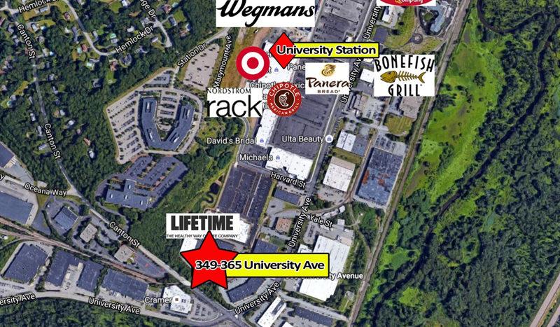 365 University Ave Westwood aerial