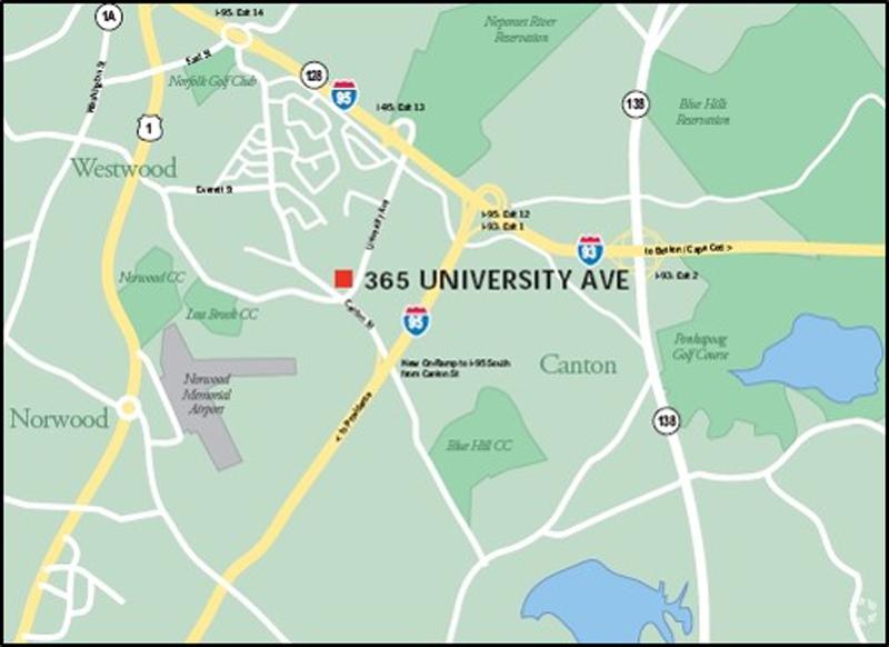 365 University Ave Westwood map