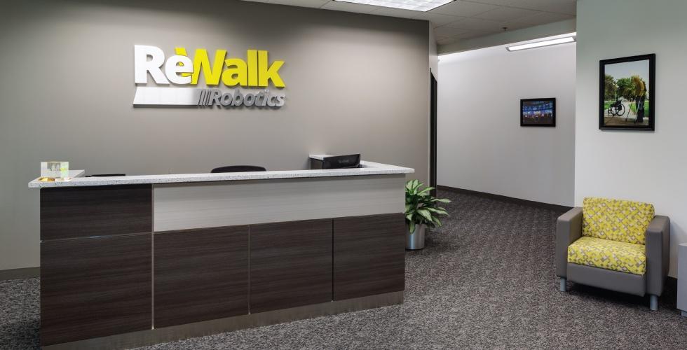 Lobby of ReWalk Robotics - Marlborough MA